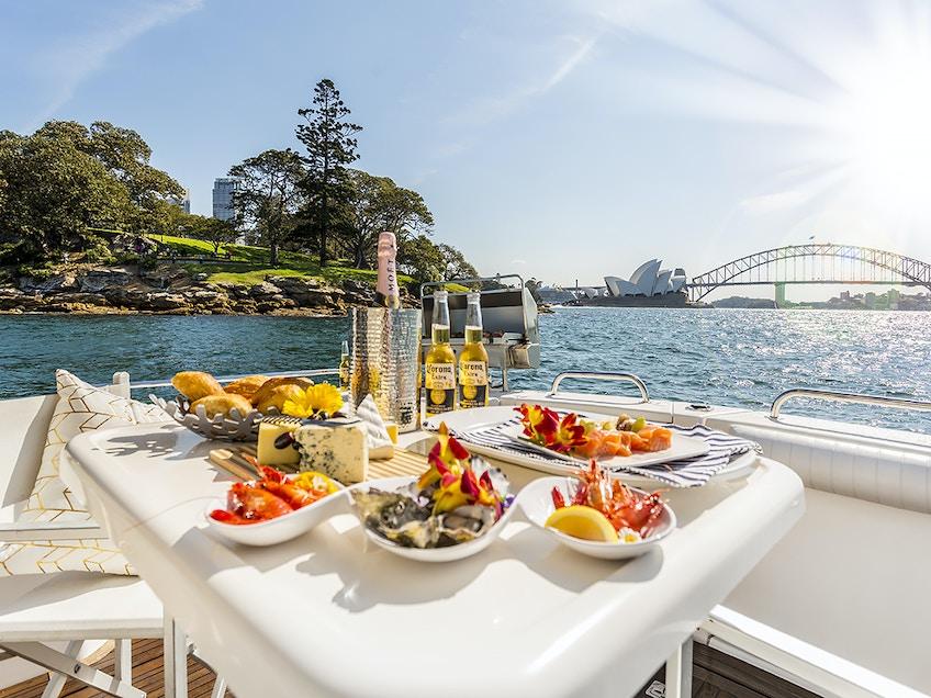 Sydney Harbour boat hire MV Ocean Blue