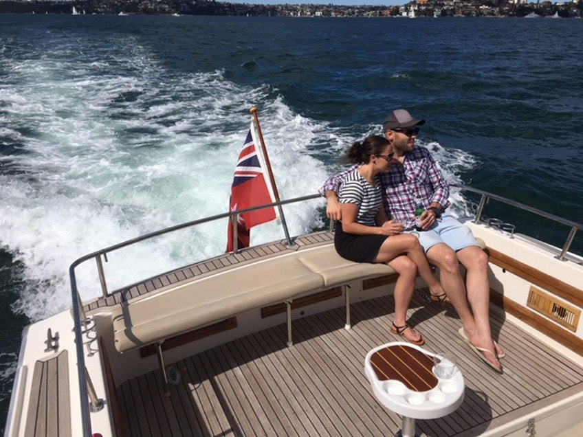 Private Harbour Cruises MV Salute Couple on Back 2