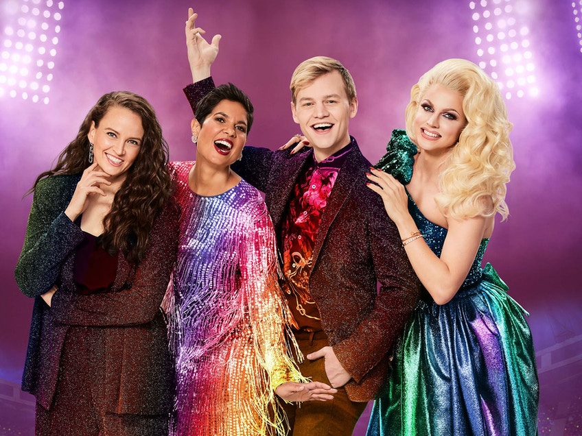 Zoë Coombs Marr Narelda Jacobs Joel Creasey and Courtney Act return to host the 2021 Sydney Gay and Lesbian Mardi Gras
